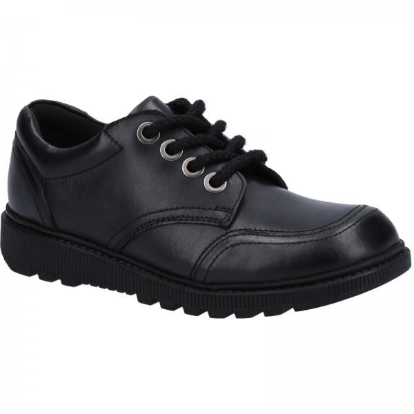 Hush Puppies Kiera Jnr Girls Black Lace Up School Shoe