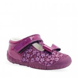Start-rite Wiggle Infant Girls Purple Flower Shoe