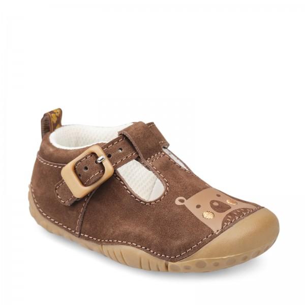 Start-rite Cuddle Infant Boys Brown T-bar Shoe