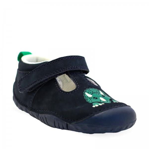 Start-rite Stomper Infant Boys Navy T-bar Shoe