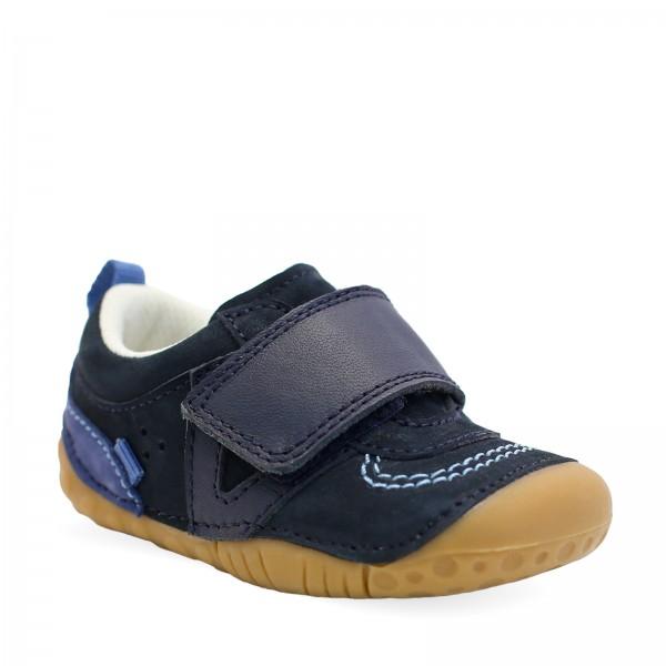 Start-rite Chuckle Infant Boys Navy Shoe