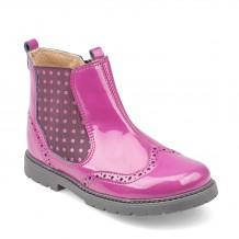 Start-rite Chelsea Girls Berry Glitter Patent Boot