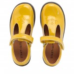 Start-rite Harvest Girls Gold Patent T-bar Shoe