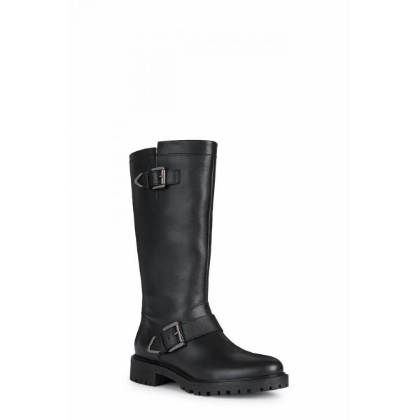 Geox Hoara Womens Black Tall Boot