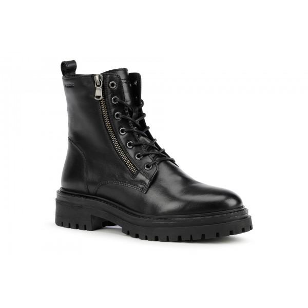 Geox Iridea Womens Black Lace Up Combat Boot