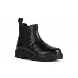 Geox Bleyze Womens Black Chunky Chelsea Boot