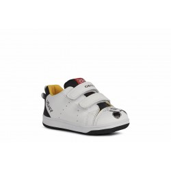 Geox New Flick Boys Girls White Mickey Mouse Trainer