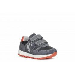 Geox Alben Boys Dark Grey/Red Trainer