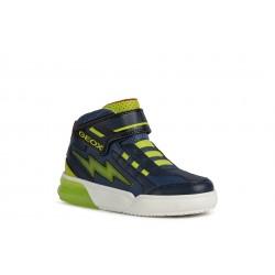 Geox Grayjay Boys Navy/Lime Lights Boot