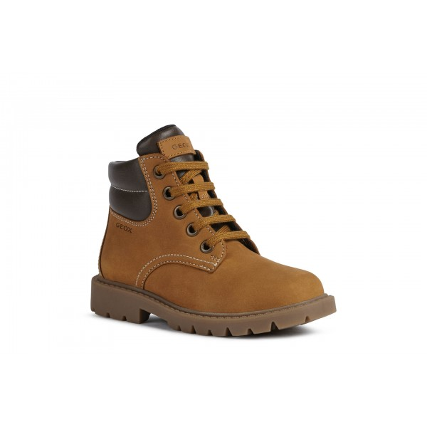 Geox Shaylax Boys Camel Brown Lace Up Boot