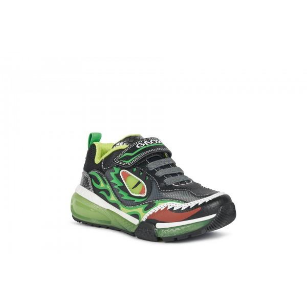 Geox Bayonc Boys Black/Lime Lights Trainer