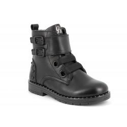 Primigi Paris Girls Black Combat Boot