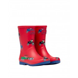Joules Red Tractor Boys Roll Up Welly Boot