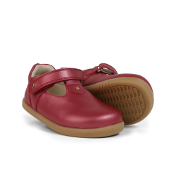 Bobux Louise Girls Cherry Shimmer T-bar Shoe