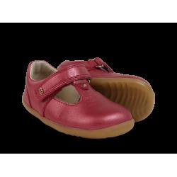 Bobux Louise Girls Cherry Shimmer Infants T-bar Shoe
