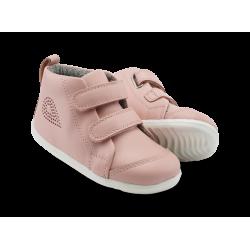 Bobux Hi Court Girls Seashell Infants Pink Boot