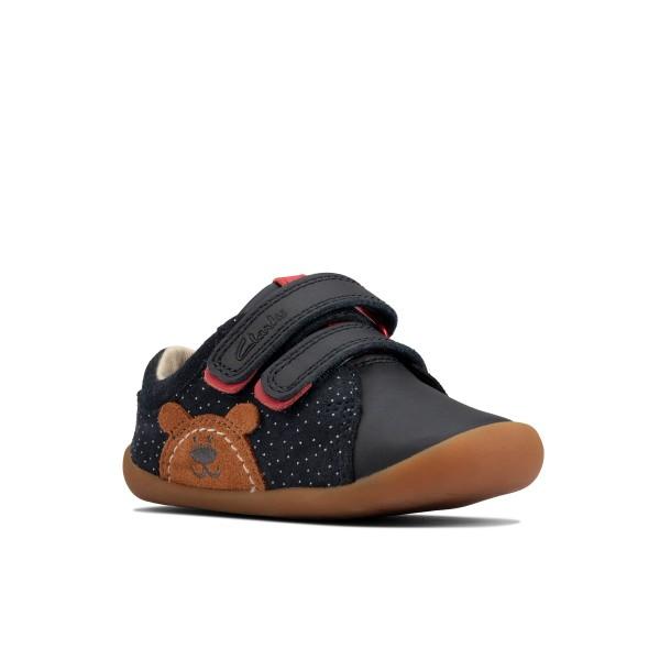 Clarks Roamer Bear Infant Boys Girls Navy Shoe