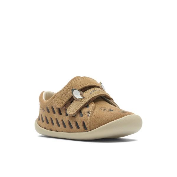 Clarks Roamer Deer Infant Girls Tan Shoe