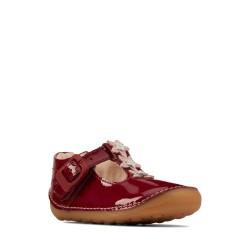 Clarks Tiny Flower Infant Girls Cherry T-Bar Shoe