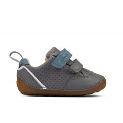Clarks Tiny Sky Infant Boys Grey Shoe