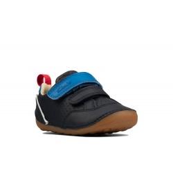 Clarks Tiny Sky Infant Boys Navy Shoe