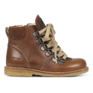 Angulus Lace Up Boot Girls Boys Cognac Brown Boot