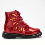 Lelli Kelly Ali Di Fata Stivale Girls Red Glitter Boot