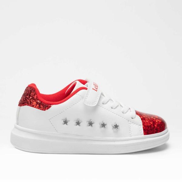 Lelli Kelly Helene Girls White/Red Sparkle Trainer