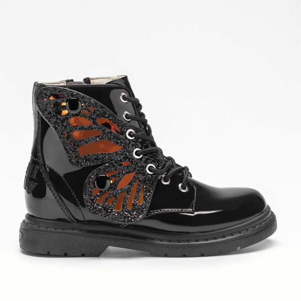 Lelli Kelly Ali Di Fata Girls Black Patent Boot