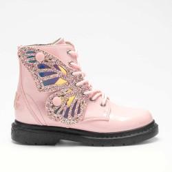 Lelli Kelly Ali Di Fata Girls Pink Patent Boot