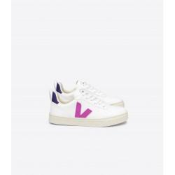 Veja V-10 Lace Girls White Ultraviolet Purple Trainer