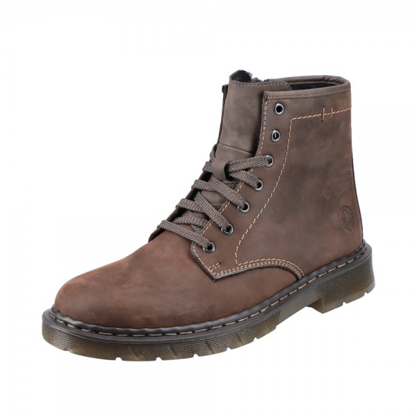 Rieker 3260122 Mens Brown Warm Lace Up Boot