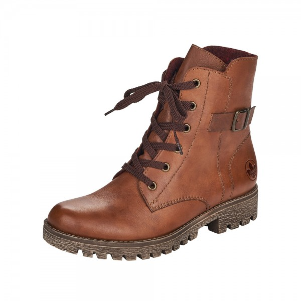 Rieker 7850424 Womens Brown Lace Up Ankle Boot