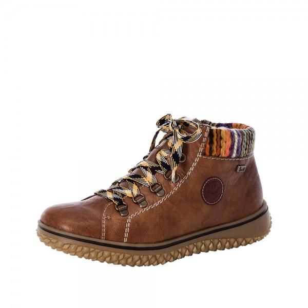 Rieker L421122 Womens Brown Warm Lined Waterproof Boot