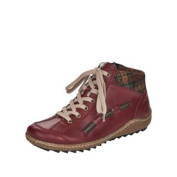 Rieker L754335 Womens Red Ankle Boot