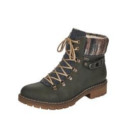 Rieker Y913154 Womens Green Warm Lined Waterproof Boot