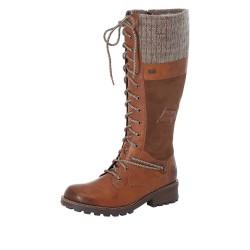 Rieker Z044224 Womens Brown Tall Warm Lined Waterproof Boot