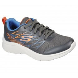 Skechers Microspec Quick Sprint Boys Grey/Blue Trainer