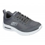 Skechers Microspec Max Boys Lace Up Charcoal Trainer
