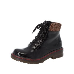 Rieker 7621200 Womens Black Lace Up Boot