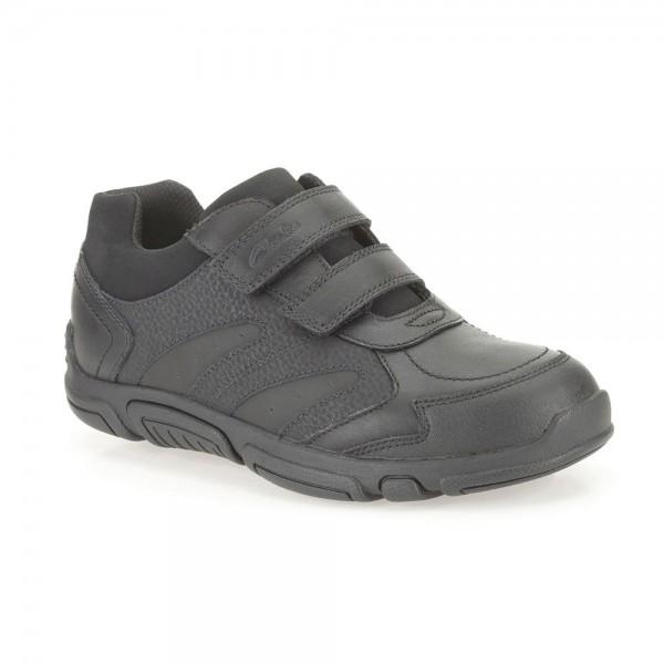 Clarks Jack Spark Infant Boys Black School Shoe