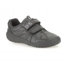 Clarks Stomp Roar Inf Boys Black School Shoe