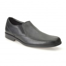 Clarks Hoxton Gent Boys Black School Shoe