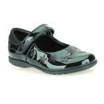 Clarks BreenaToes Inf Girls Black Patent School Shoe