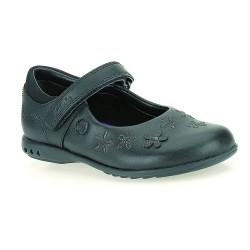 Clarks BreenaToes Inf Girls Black School Shoe