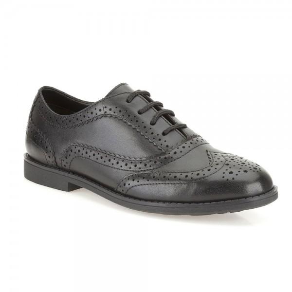 Clarks Skylar Eve Jnr Girls Black School Shoe