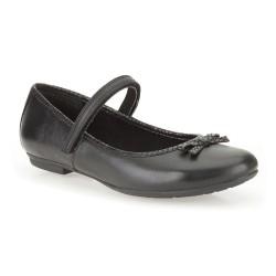 Clarks KimberlySky Girls Black School Shoe