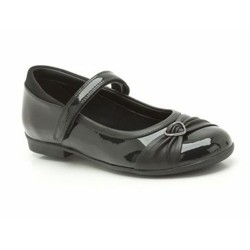 Clarks DollyHeart Inf Girls Black Patent School Shoe
