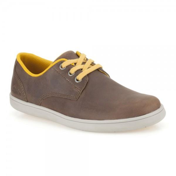 Clarks Holbay Fun Boys Brown Shoe