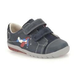 Clarks Softly Jet Fst Boys Navy Shoe